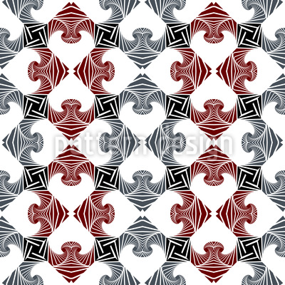 Checkered Puzzle Seamless Vector Pattern