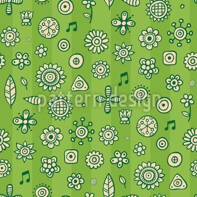 Musical Garden Pattern Design