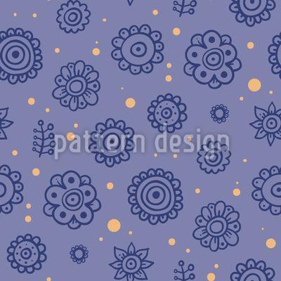 Mitternachts Blumen Designmuster