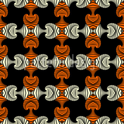 Fashionable Maori  Repeating Pattern