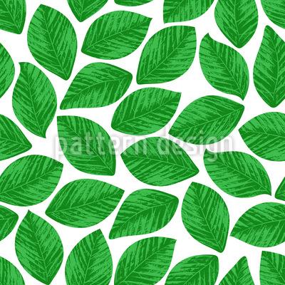 Gestempelte Blätter Rapportiertes Design