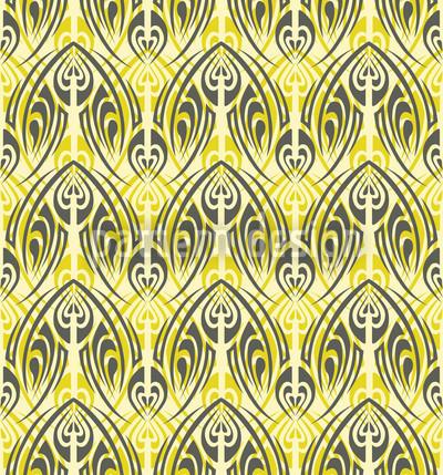 Lightgreen Maori Seamless Vector Pattern