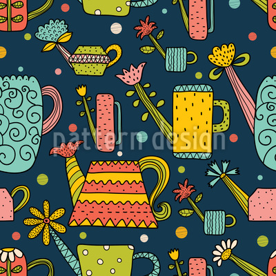 Cute Watering Cans Pattern Design