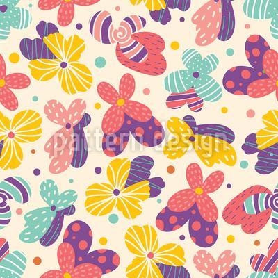 Fantasie Sommerblumen Designmuster