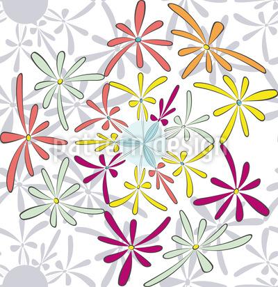 Comic Blüten Designmuster