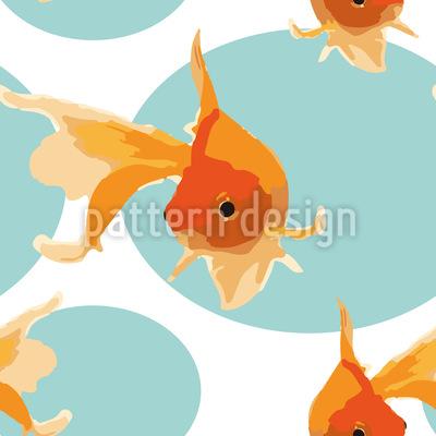 Freundliche Goldfische Vektor Design