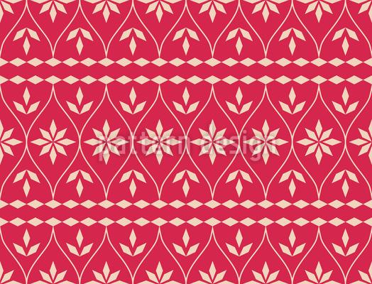 Scandinavian Christmas Bordure Repeating Pattern