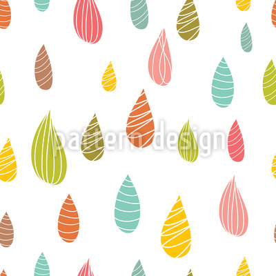 Girlish Raindrops  Repeating Pattern