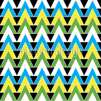 Dreiecke zum Verrückt werden Vektor Muster