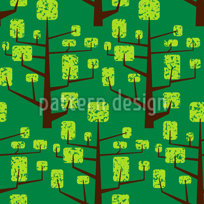 Vegetated Tree Seamless Pattern