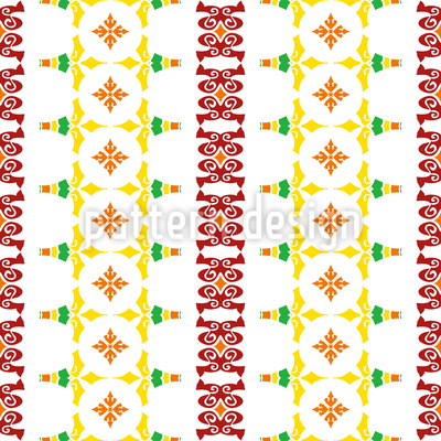 Striped Folk Art Vector Design