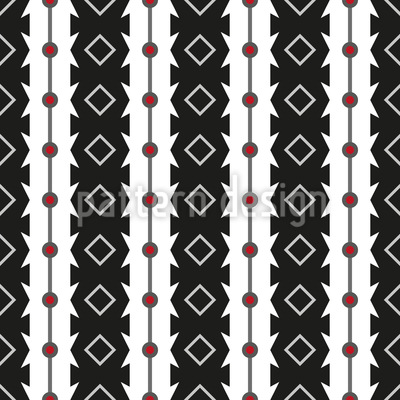Serrated Stripes Repeating Pattern