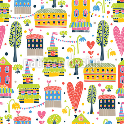 Happy Town Repeat Pattern