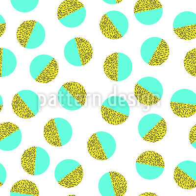 Memphis embellished Ball Seamless Vector Pattern