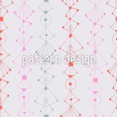 Modern Ink Ornaments Vector Pattern