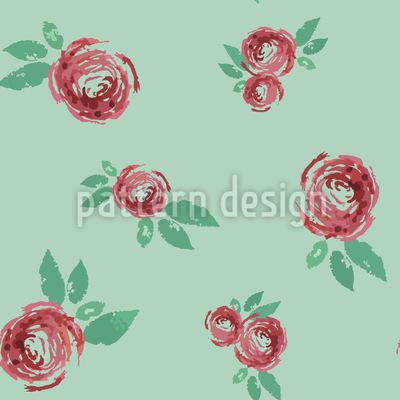 Schöne Vintage Rose Nahtloses Muster