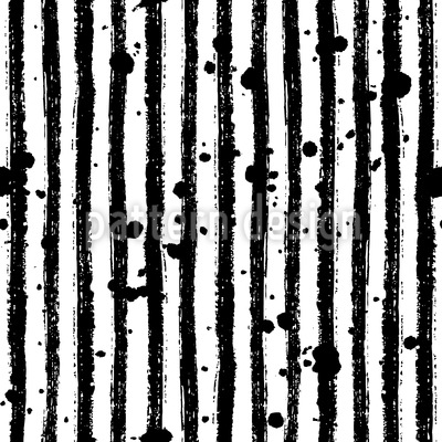 Ink Stripes And Splashes Repeat Pattern