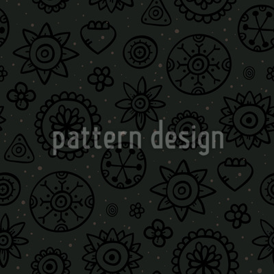 Dark Flowers Design Pattern