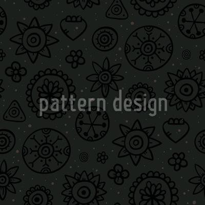 Dunkle Blumen Designmuster