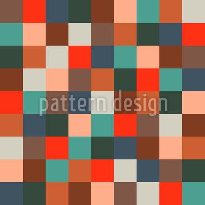 Farbiges Schachbrett Vektor Ornament