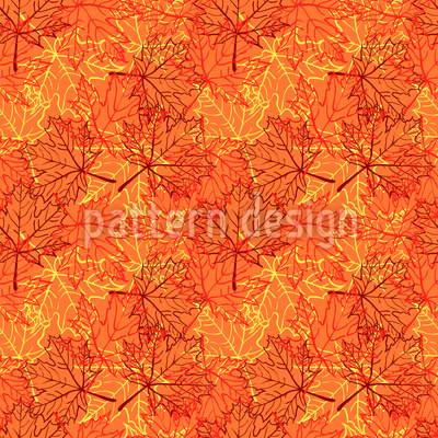 Autumn Maple Leaves Vector Pattern