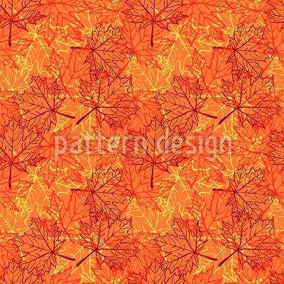 Herbst-Ahorn-Blätter Vektor Muster