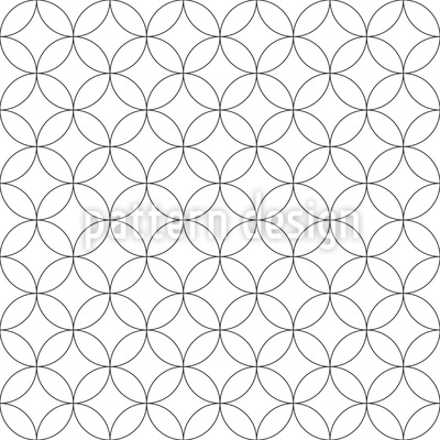 Minimalist Rounded Shapes Vector Pattern