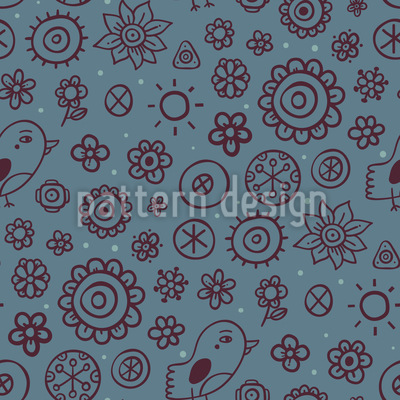 Flowers and Birds Pattern Design