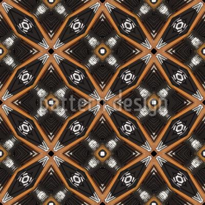 Circles Meets Stars Pattern Design