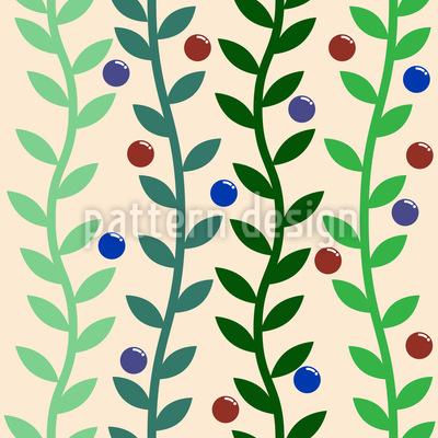 Zweige und Beeren Nahtloses Muster