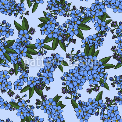 Blütenzweige Nahtloses Muster