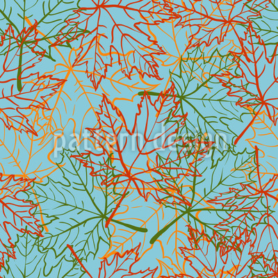 Drifting Maple Leaves Pattern Design