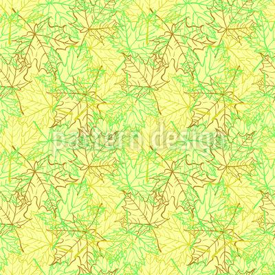 Der Duft des Ahorn-Waldes Vektor Ornament