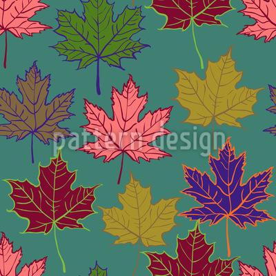 Herbstliches Ahorn-Trio Nahtloses Vektor Muster