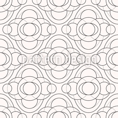 Monochrome Circles Repeat