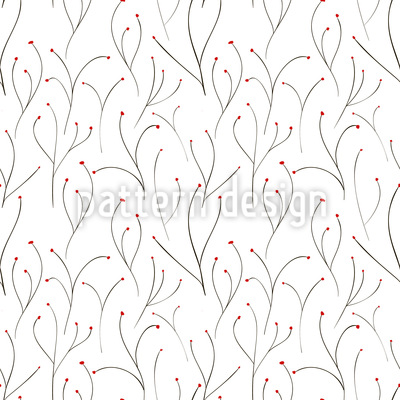 Ruhende Knospen Muster Design
