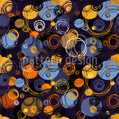 Endless Round Shapes Vector Pattern