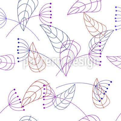 Stilisierte Pflanzen Muster Design