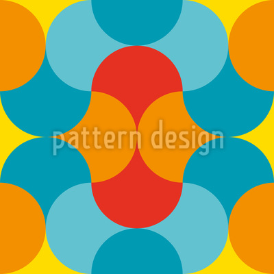 Friendly Round Shapes Repeating Pattern