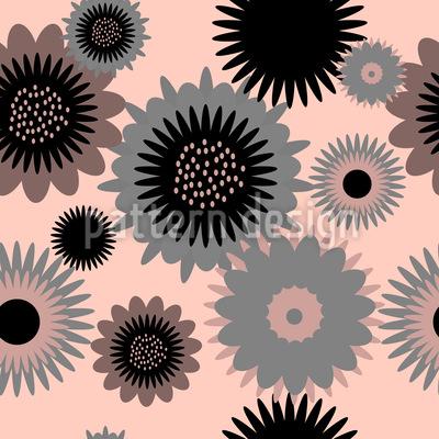 Zahnräder Blüten Muster Design