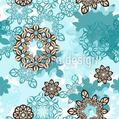 Wasser-Blume Nahtloses Muster