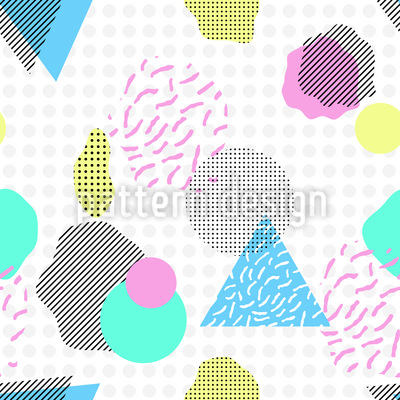 Abstract Shapes Repeating Pattern