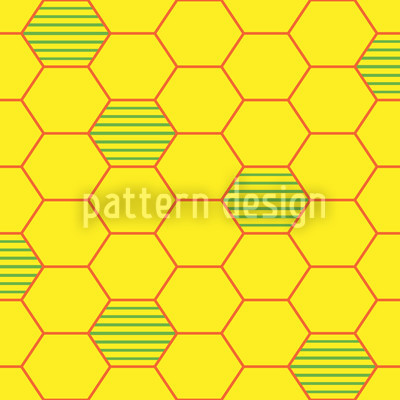 Honeycombs Prison Seamless Pattern