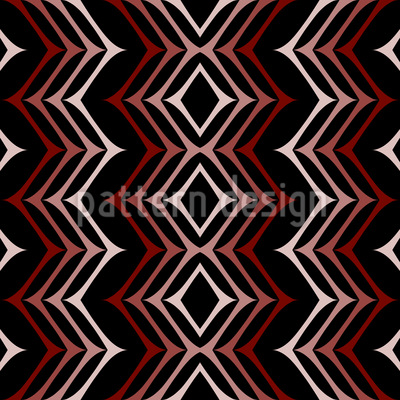 In Zigzag Step Vector Ornament