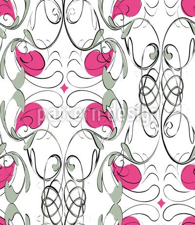 Decorative Art Nouveau Flair Vector Pattern