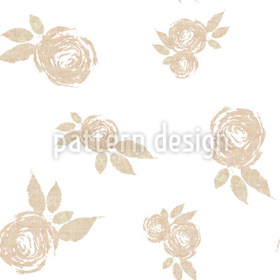 Tea Time Roses Repeating Pattern