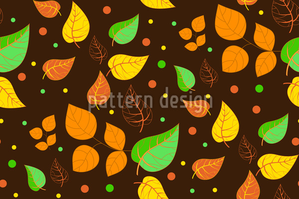 Falling Leaves and Dots Pattern Design