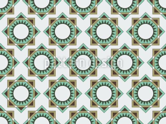 Geometrische Patchwork Formen Rapportiertes Design
