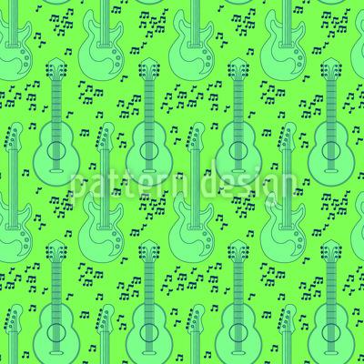 Akustische Gitarren und Noten Musterdesign