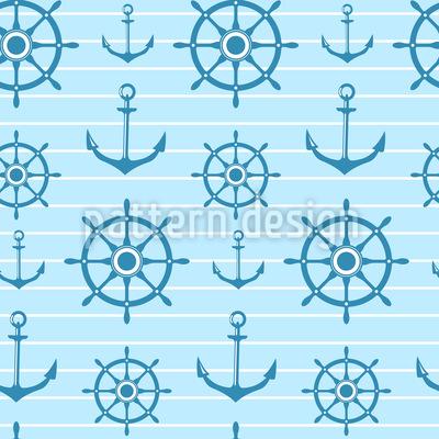 Ahoy Nautical  Seamless Vector Pattern